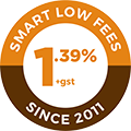 1% +gst - Smart low fees since 2011